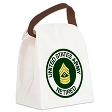 ArmyRetiredFirstSergeant.gif Canvas Lunch Bag