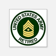 "ArmyRetiredSergeantMajor.gi Square Sticker 3"" x 3"""