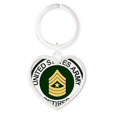 ArmyRetiredSergeantMajor.gif Heart Keychain
