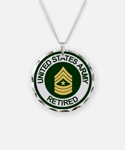 ArmyRetiredSergeantMajor.gif Necklace Circle Charm