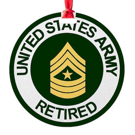 ArmyRetiredSergeantMajor.gif Round Ornament
