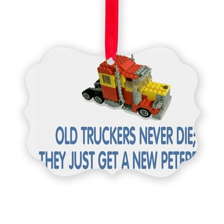 OldTruckersCapBlue.gif Picture Ornament