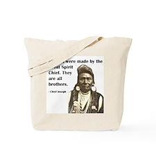 Brotherhood Quote Tote Bag