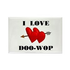 LOVE DOO-WOP Rectangle Magnet