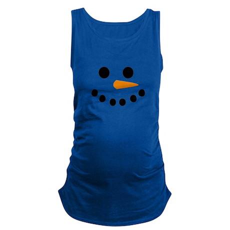 Snowman Face Maternity Tank Top