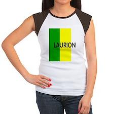 LaurionBerryButton2.gif Women's Cap Sleeve T-Shirt