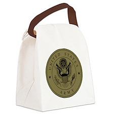 Army3rdInfantryShirtbackWoodland. Canvas Lunch Bag