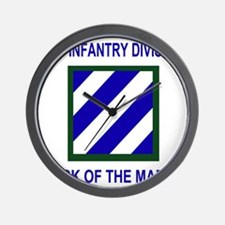 Army3rdInfantryShirt1.gif Wall Clock