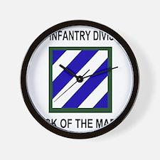 Army3rdInfantryShirt3.gif Wall Clock