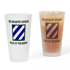 Army3rdInfantryShirt3.gif Drinking Glass