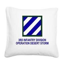 Army3rdInfantryDesertStorm4.g Square Canvas Pillow
