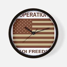 OperationIraqiFreedomTeeshirtDennis4.gi Wall Clock