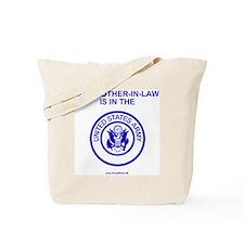 ArmyMyBrotherInLawBlue.gif Tote Bag