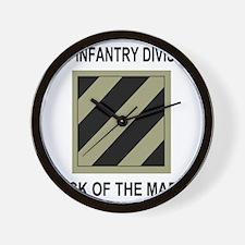 Army3rdInfantryShirt5.gif Wall Clock
