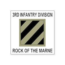 "Army3rdInfantryShirt5.gif Square Sticker 3"" x 3"""