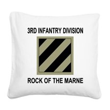 Army3rdInfantryShirt5.gif Square Canvas Pillow