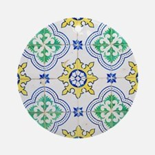 Portuguese Azulejos Round Ornament