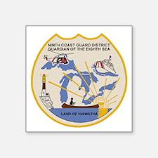 """USCGPatchCGD9Bonnie2.gif Square Sticker 3"""" x 3"""""""