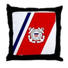 USCG-Tile-Coaster.gif Throw Pillow
