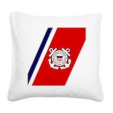 USCG-Tile-Coaster.gif Square Canvas Pillow