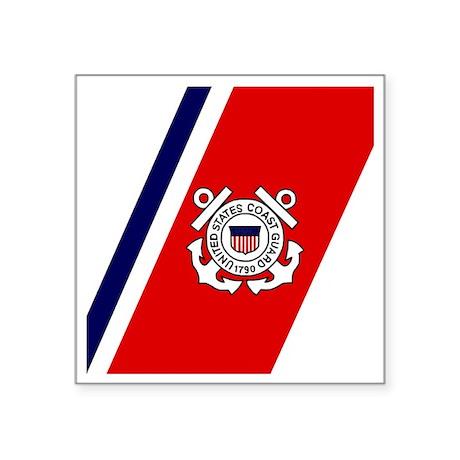 """USCG-Tile-Coaster.gif Square Sticker 3"""" x 3"""""""