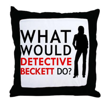 """What Would Detective Beckett Do?"" Throw Pillow"