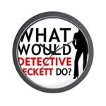"""""""What Would Detective Beckett Do?"""" Wall Clock"""