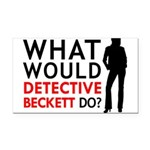 """""""What Would Detective Beckett Do?"""" Rectangle Car M"""