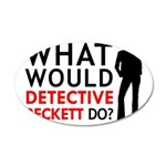 """""""What Would Detective Beckett Do?"""" 20x12 Oval Wall"""