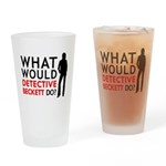 """""""What Would Detective Beckett Do?"""" Drinking Glass"""