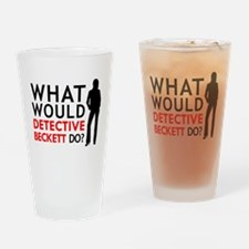 """What Would Detective Beckett Do?"" Drinking Glass"