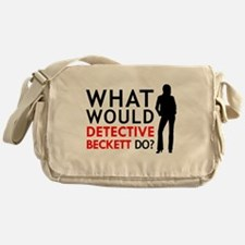 """""""What Would Detective Beckett Do?"""" Messenger Bag"""
