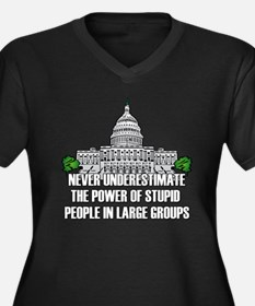 Stupid People In Washington DC Women's Plus Size V