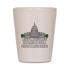 Stupid People In Washington DC Shot Glass