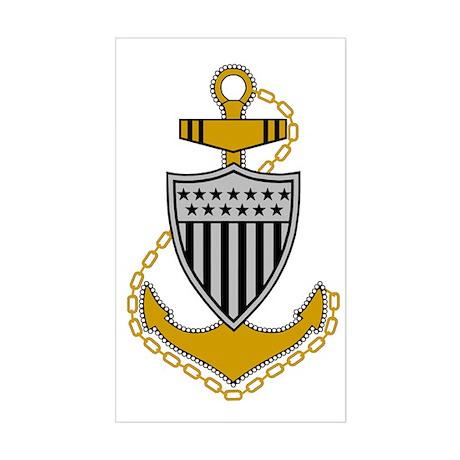 USCG-CPO-Bonnie.gif Sticker (Rectangle)