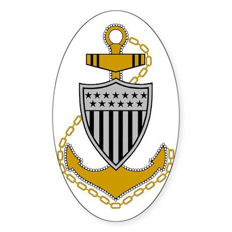 USCG-CPO-Bonnie.gif Sticker (Oval)