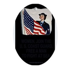 USCG-Poster-Free-A-Man-Large.gif Oval Ornament