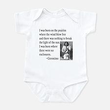 Geronimo Quote Infant Bodysuit
