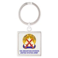 Army-10th-Mountain-Div-Shirt-1.gif Square Keychain