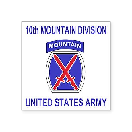 "Army-10th-Mountain-Division Square Sticker 3"" x 3"""