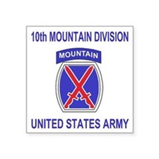 "Army-10th-Mountain-Division Square Sticker 3"" x 3"""