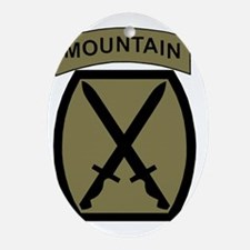 Army-10th-Mountain-Div-Woodland.gif Oval Ornament