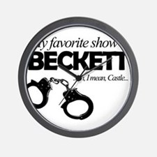 """My Favorite Show Is Beckett"" Wall Clock"