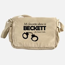 """My Favorite Show Is Beckett"" Messenger Bag"