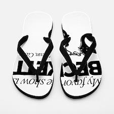 """My Favorite Show Is Beckett"" Flip Flops"