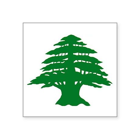 Cedar Tree of Lebanon Oval Sticker