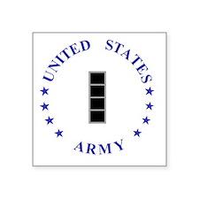 "Army-10th-Mountain-Div-CW4. Square Sticker 3"" x 3"""