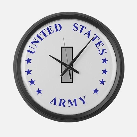 Army-10th-Mountain-Div-First-Lieu Large Wall Clock