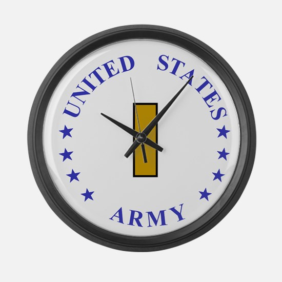 Army-10th-Mountain-Div-Second-Lie Large Wall Clock
