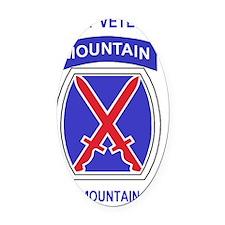 Army-10th-Mountain-Div-Veteran-Sti Oval Car Magnet